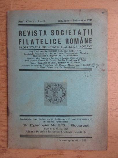 Anticariat: Revista societatii filatelice romane, Anul VI, Nr. 1-2, Ianuarie-Februarie 1943