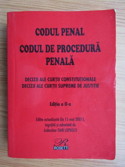 Anticariat: Codul de procedura penala, 2001