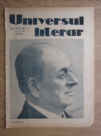 Anticariat: Ziarul Universul literar, anul XLIV, nr. 11, 11 martie 1928