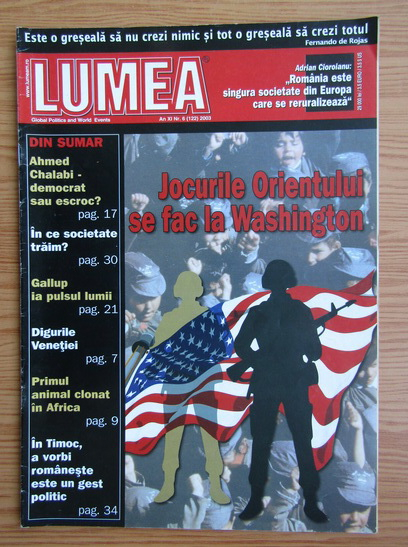 Anticariat: Revista Lumea, an XI, nr. 6 (122), 2003