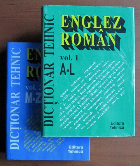 Anticariat: Dictionar Tehnic Englez-Roman (2 volume)