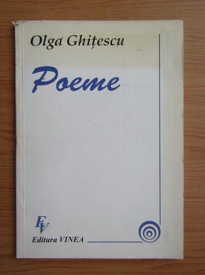 Anticariat: Olga Ghitescu - Poeme