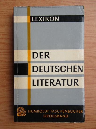Anticariat: Der Deutschen Literatur