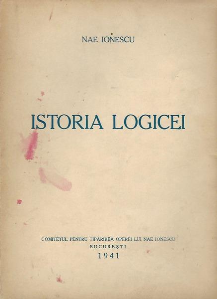 Anticariat: Nae Ionescu - Istoria logicei (1941)