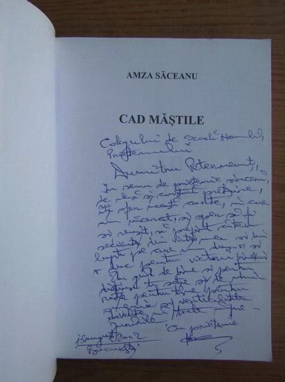 Anticariat: Amza Saceanu - Cad mastile (cu autograful autorului)