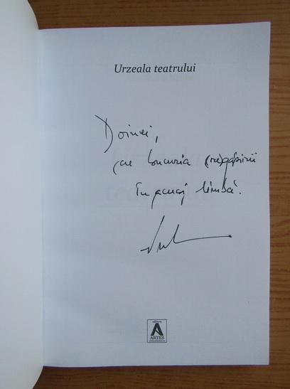 Anticariat: Ana-maria Nistor - Urzeala teatrului (cu autograful autorului)