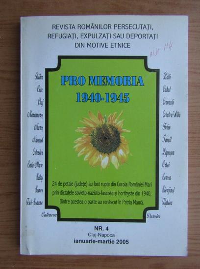 Anticariat: Revista Pro Memoria, nr. 4, ianuarie-martie, 2005