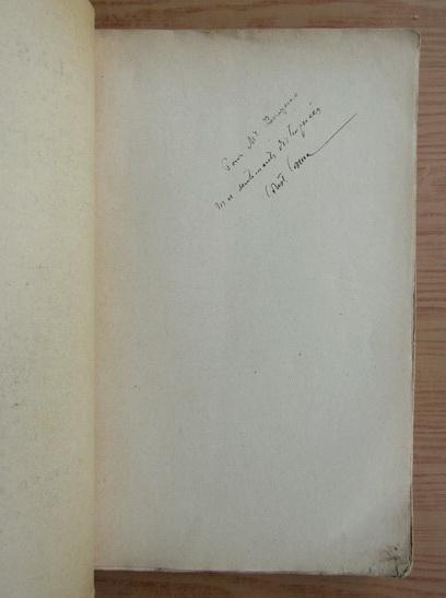 Anticariat: Constantin Cosma - Les actes de l'heritier apparent. Theorie de la Jurisprudence (cu autograful autorului, 1909)