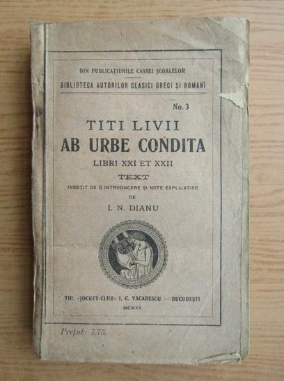 Anticariat: Titus Livius - Ab urbe condita (1926)