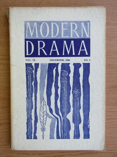 Anticariat: Modern Drama, volumul IX, nr. 3, december 1966