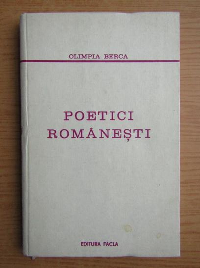 Anticariat: Olimpia Berca - Poetici romanesti