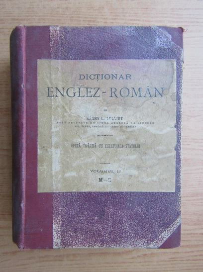 Anticariat: Henry Lolliot - Dictionar englez-roman (volumul 2, 1920)