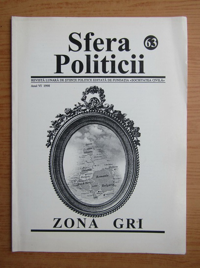 Anticariat: Revista Sfera Politicii, anul VI, nr. 63, 1998