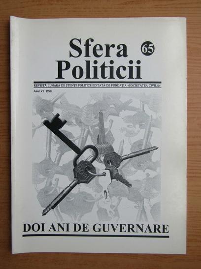 Anticariat: Revista Sfera Politicii, anul VI, nr. 65, 1998