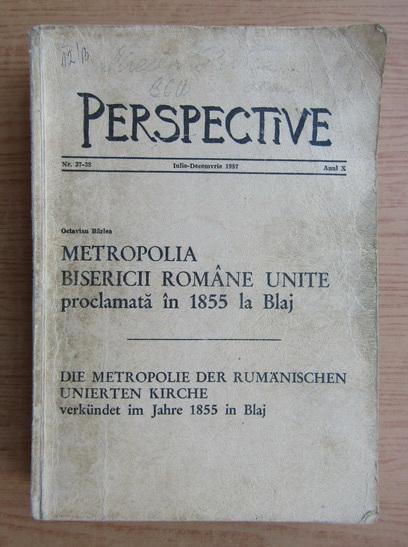 Anticariat: Revista Perspective, nr. 37-38, iulie-decembrie 1987
