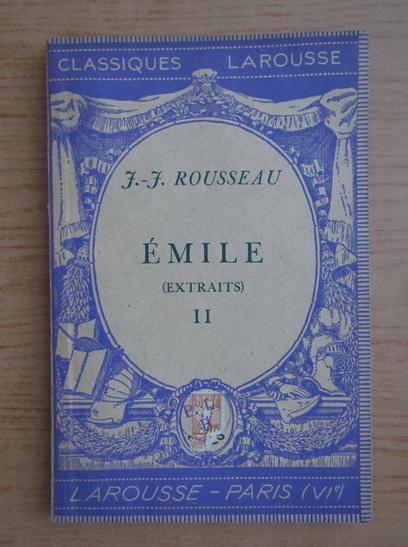 Anticariat: Jean Jacques Rousseau - Emile au de l'education (volumul 3, 1935)