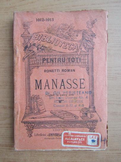 Anticariat: Ronetti Roman - Manasse (1930)