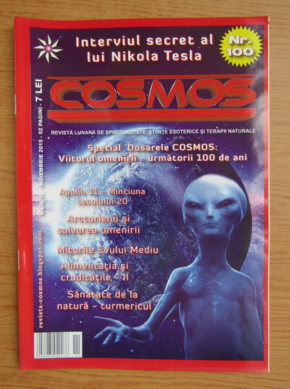 Anticariat: Revista Cosmos, anul IX, nr. 100, noiembrie 2015