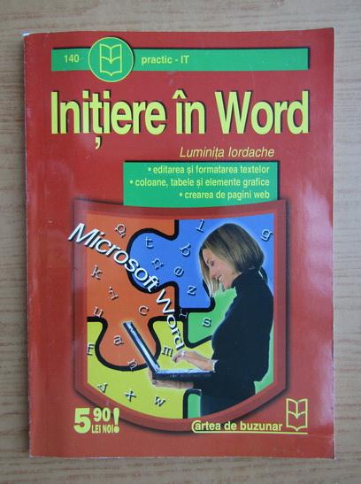 Anticariat: Luminita Iordache - Initiere in Word