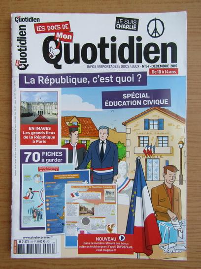 Anticariat: Les docs de mon quotidien, nr. 54, decembrie 2015