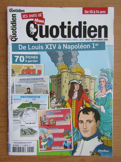 Anticariat: Revista Mon Quotidien, nr. 57, septembrie 2016
