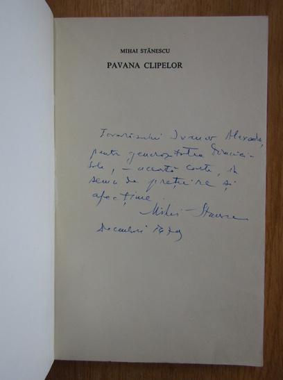 Anticariat: Mihai Stanescu - Pavana clipelor (cu autograful autorului)