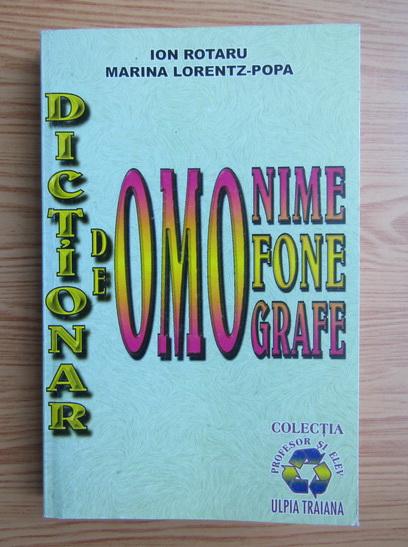 Anticariat: Ion Rotaru - Dictionar de omonime