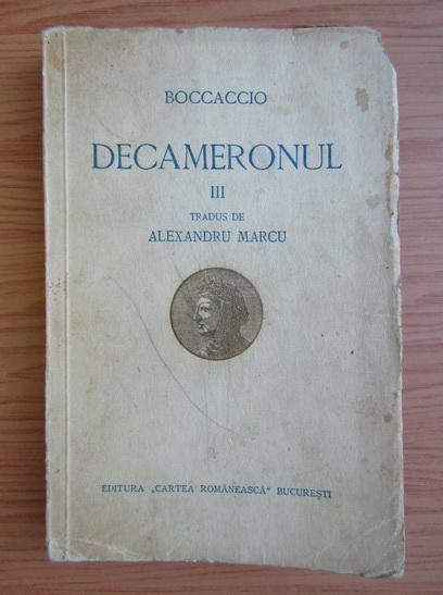 Anticariat: Giovanni Boccaccio - Decameronul (volumul 3, 1936)