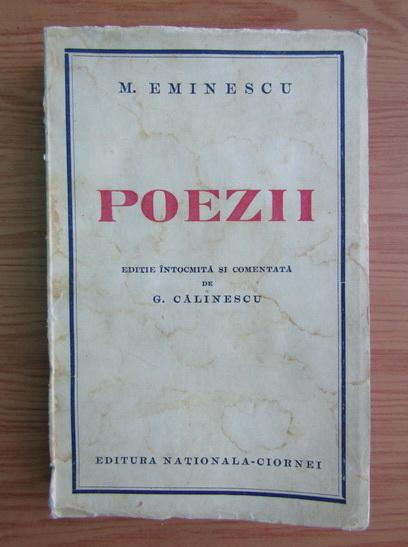 Anticariat: Mihail Eminescu - Poezii (1938)