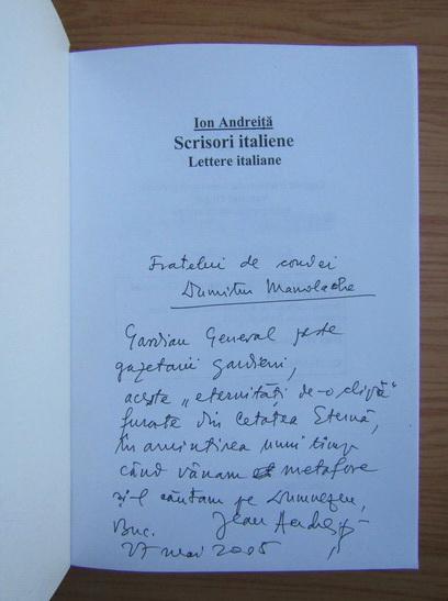 Anticariat: Ion Andreita - Scrisori italiene (cu autograful autorului)