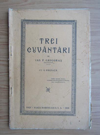 Anticariat: Trei cuvantari (1928)