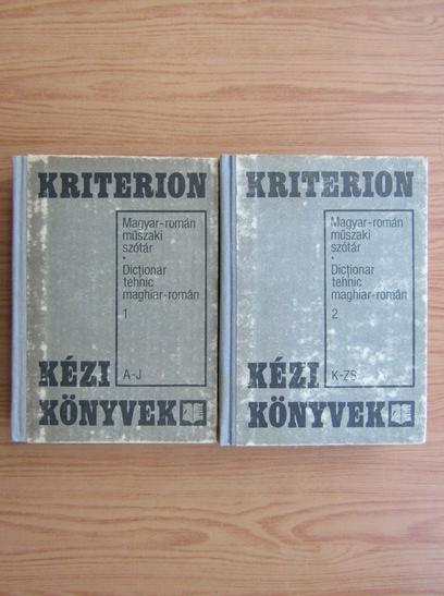 Anticariat: Andras Biro - Dictionar tehnic maghiar-roman (2 volume)