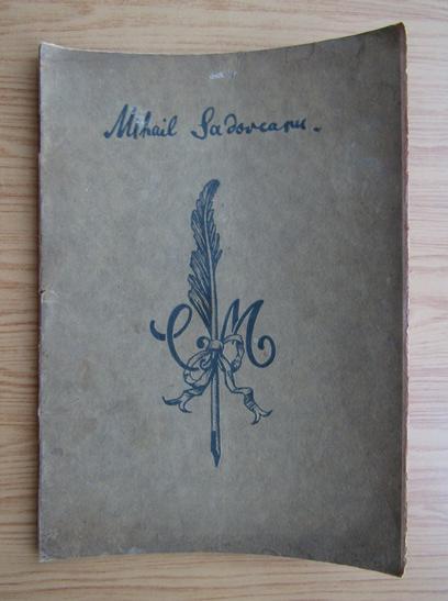 Anticariat: Mihail Sadoveanu - Dimineti de iulie. Stigletele (litografiata, 1927)