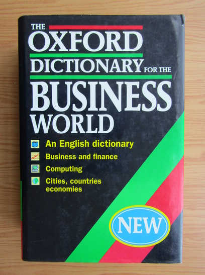 Anticariat: The Oxford dictionary for the business world