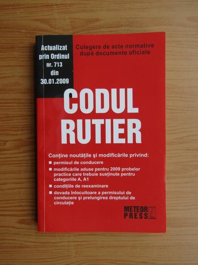 Anticariat: Codul rutier