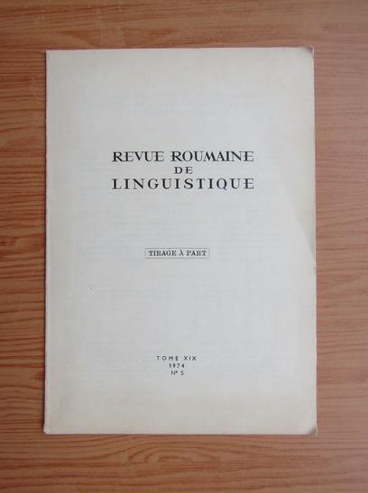 Anticariat: Revue Roumaine de linguistique, tome XIX, nr. 5