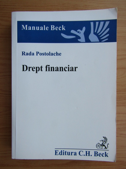 Anticariat: Rada Postolache - Drept financiar