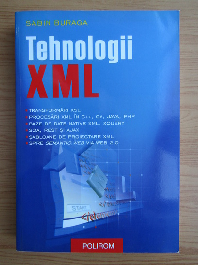 Anticariat: Sabin Buraga - Tehnologii XML