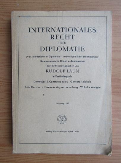 Anticariat: Rudolf Laun - Internationales recht und diplomatie
