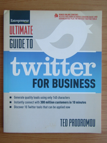 Anticariat: Ted Prodromou - Ultimate guide to Twitter for business