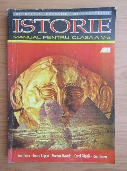 Anticariat: Zoe Petre - Istorie. Manual pentru clasa a V-a