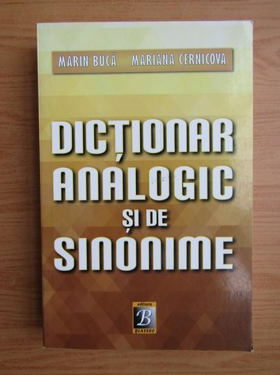 Anticariat: Marin Buca - Dictionar analogic si de sinonime