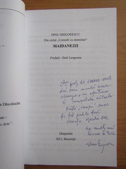 Anticariat: Dinu Grigorescu - Maidanezii (cu autograful autorului)