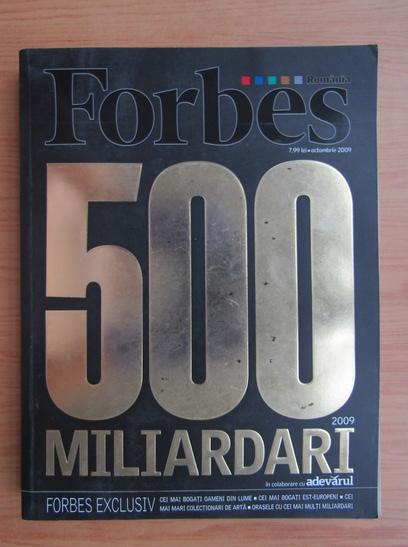 Anticariat: Forbes 500 miliardari, octombrie 2009