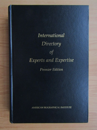 Anticariat: International Directory of Experts and Expertise