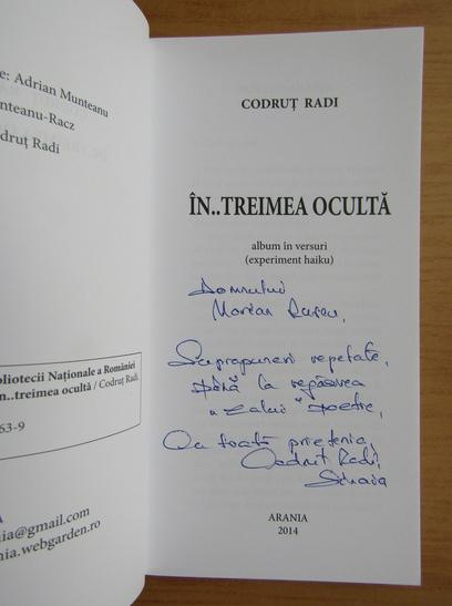 Anticariat: Codrut Radi - In...treimea oculta (cu autograful autorului)