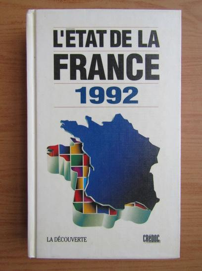Anticariat: L'etat de la France 1992