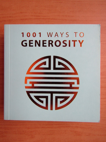 Anticariat: 1001 ways to generosity