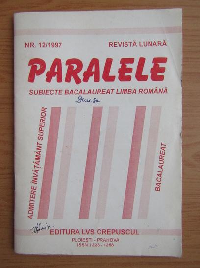 Anticariat: Revista Paralele, nr. 12, 1997