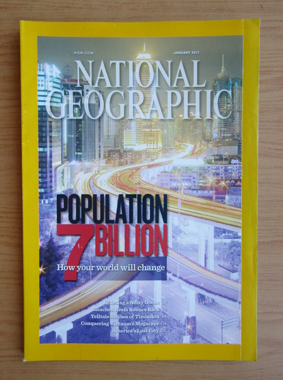 Anticariat: Revista National Geographic, vol. 219, nr. 1, ianuarie 2011